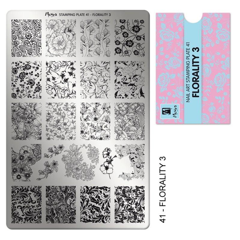 Matrita pentru stampila nr 41 imprimeuri florale 3