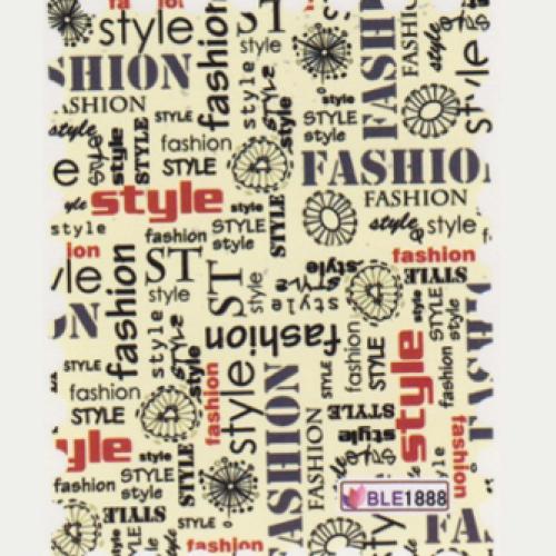 BB Nail Sticker BLE1888 Fashion style words
