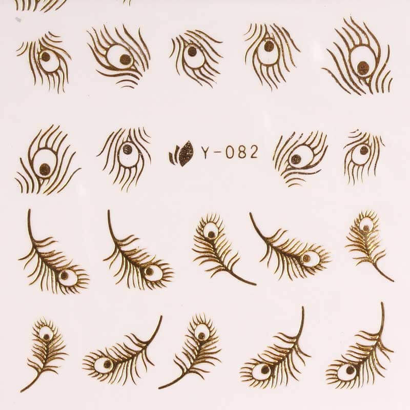 BB Nail Sticker Y082 Gold 2