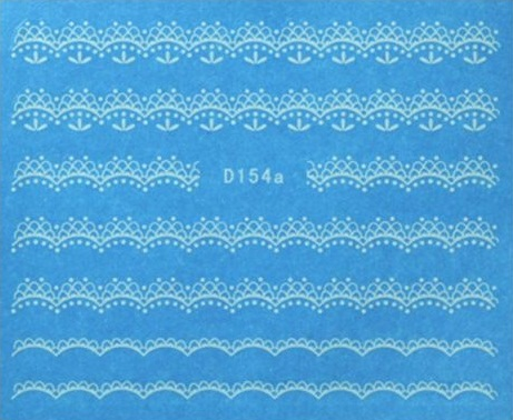 BB Nail Sticker D154 Alb