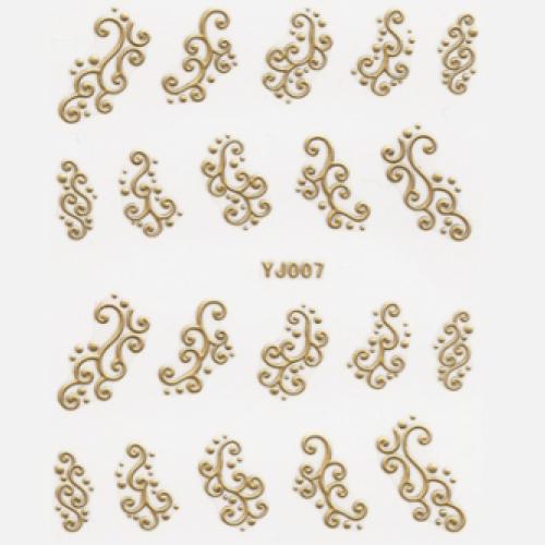 BB Nail Sticker YJ007 Gold
