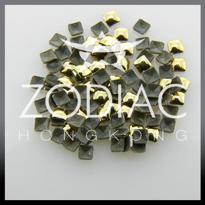 Decor Zodiac Patrat Gold 2mm
