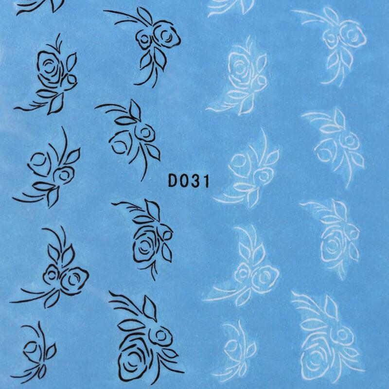 BB Nail Sticker D031