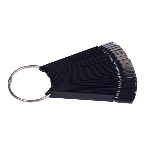 Paletar 50 de tipsuri pe inel negre Crystal Nails