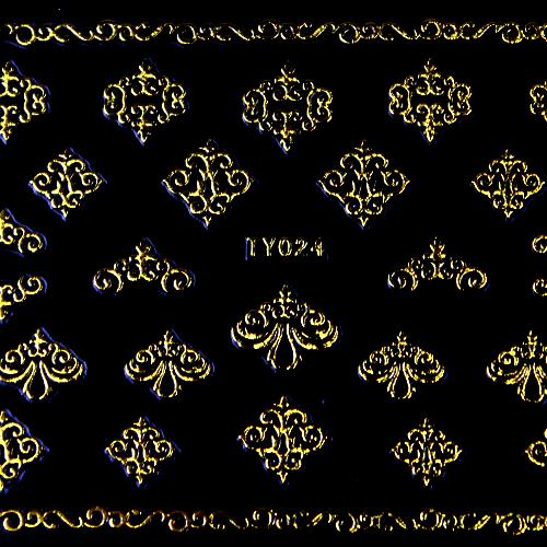 BB Nail Sticker TY024 Gold