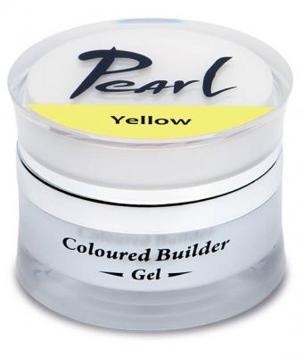 Gel de constructie colorat 15 ml Pearl Nails Galben