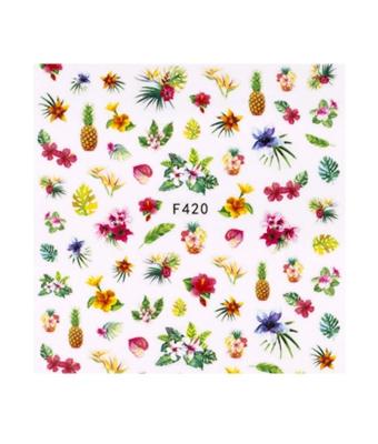 Abtibild unghii F420 Floare Tropicala