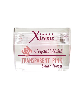 Praf acrylic slower powder xtreme transparent pink 28gr
