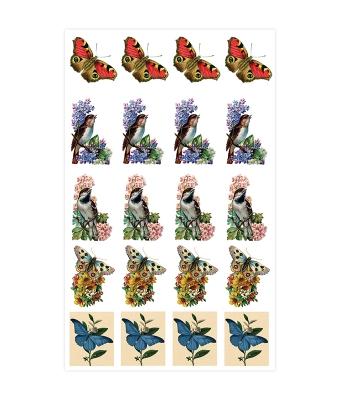 Baroque Stickers Birds and Butterflies