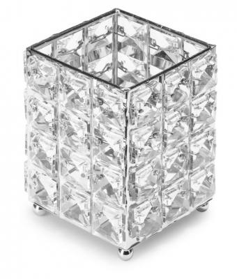 Pahar fashion cu cristale patrate Silver