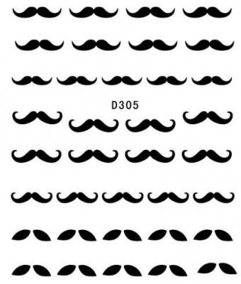 BB Nail Sticker D305 Black