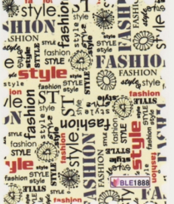 BB Nail Sticker BLE1888 Fashion style words