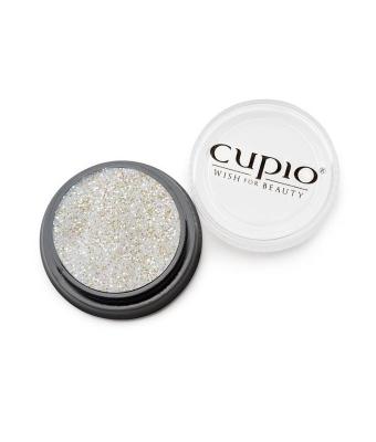 Sclipici fin premium alb perlat