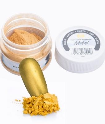 Praf de pigment gold-auriu