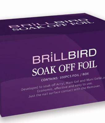 Folie Soak Off 100 buc BrillBird