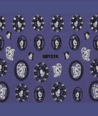 BB Nail Sticker SMY226 Black