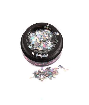 Nail Art Diamond Holo Silver