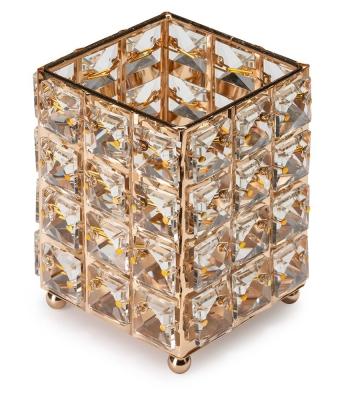 Pahar fashion cu cristale patrate Gold
