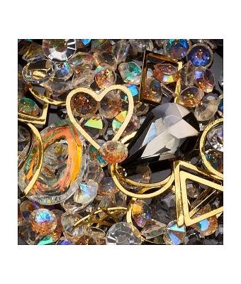 Ornamente mix margele cristale si forme geometrice 15