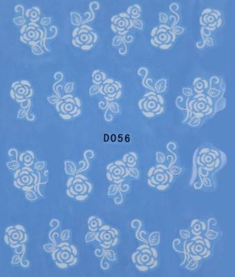 BB Nail Sticker D056 Alb