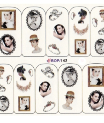 BB Nail Sticker BOP 142