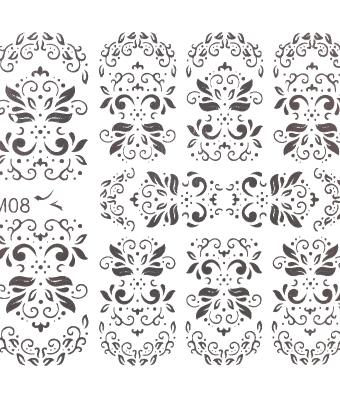 BB Nail Sticker M08