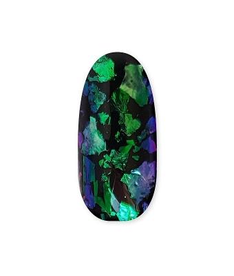 Pigment chrome flakes green blue violet
