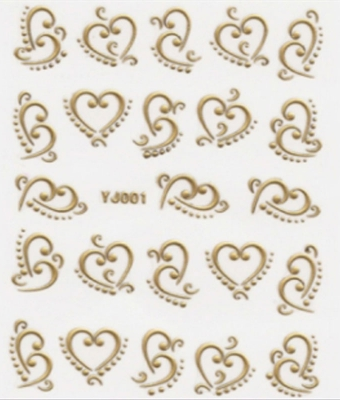 BB Nail Sticker YJ001 Gold