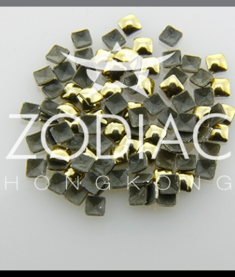 Decor Zodiac Patrat Gold 2mm