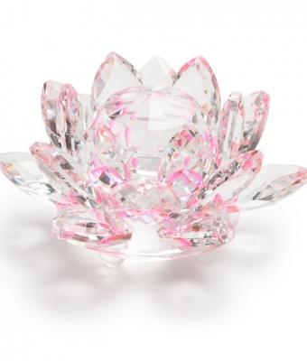 Ornament din sticla pentru poze Floare 3D
