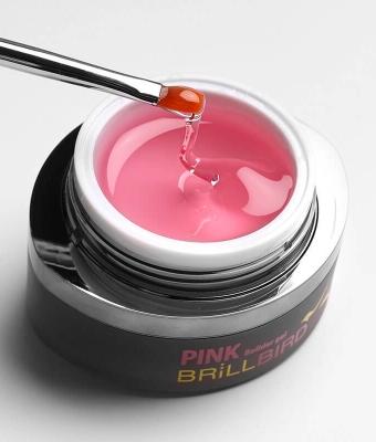 Glassy Pink Gel  Gel transparent nuantat roz 15ml